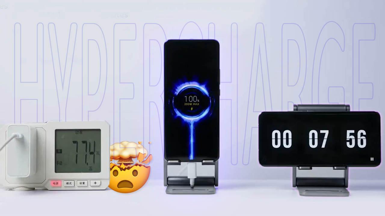Xiaomi HyperCharge: carga de batería a 200W con cable y a 120W inalámbrica