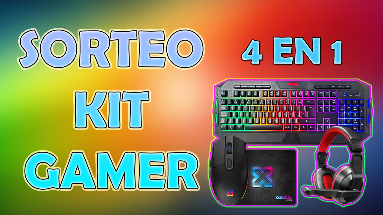 Sorteo de kit gamer para PC: mouse, pad, teclado y auriculares